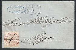 Finland 1859 Yv 2 Folded Cover From Abo To Riga