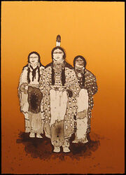 Kevin Red Star Crow Ladies Signed Ltd Edition Lithograph Art Print Make Offer