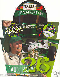 Paul Tracy 2000 Team Green Honda Racing Promotional Picture Signature Card 26