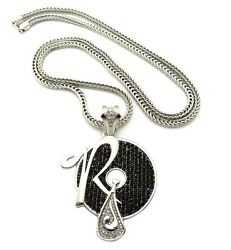 New Rocafella Pendant And 4mm/36 Franco Chain Hip Hop Necklace - Xp888