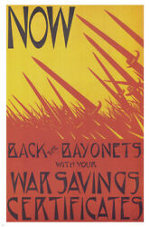 Now, Back The Bayonets Vintage War Ww1 Poster C R W Nevinson Uk 1918 24x36