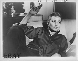 Lola Albright W/cig Vintage Photo A Cold Wind In August