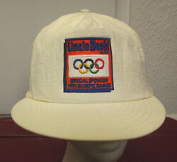 UNCLE BEN'S vtg nylon cap OG logo baseball hat 1992 Olympic Games embroidery