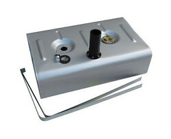 Universal Steel Gas Fuel Tank W/ 2-1/4 Neck And Hose W/ Fuel Injection Tray