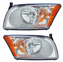 Four Winds Hurricane 2007 2008 2009 Pair Headlights Head Lights Front Lamps Rv