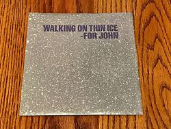 John Lennon Walking On Thin Ice Original Picture Sleeve With 45 Rpm 1981