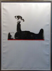 Mackenzie Thorpe Playing With Baby H.signed With Custom Frame Make An Offer