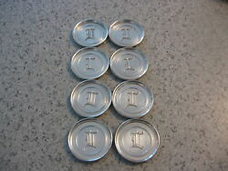 Vintage L.e. Mason Co. Boston Mass. 8 Coasters In Letter L Pewter Or Stainless