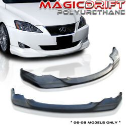 For Lexus IS250 IS350 06 08 Polyurethane Front lip INS Chin Spoiler VIP Body Kit