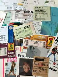Collectors Ticket Stubs From Music Concerts Choose From List