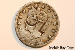 Nice Counter Stamped 1911-p Liberty Head Or V Nickel - Net Fine Lnx140