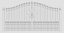 Custom Built Driveway Entry Gate 12 Ft Wd Single. Fencing Handrails Residential