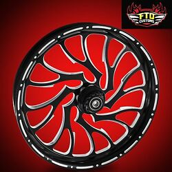 Harley Davidson Electra Glide 30 Inch Front Wheel Nightmare By Ftd Customs