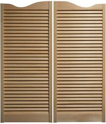 Pine Cafe Doors Louvered Western Swinging Saloon 30 32 And 36 W X 42t W/hinges