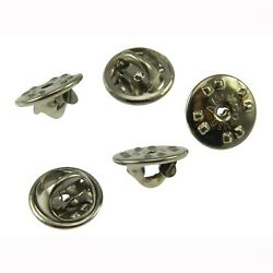 10 Chrome Trading Pin Backs Butterfly Clutch Fastener Clasps Jewelry Findings $6.27