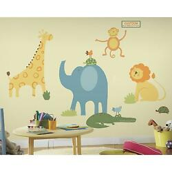 GIANT ZOO ANIMALS WALL DECALS Baby Nursery Animal Stickers party decorations