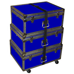Triple Accessory Case Rolling Stack 1/4 Medium Duty - Many Colors - Blue