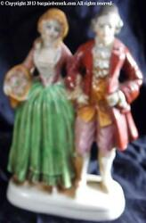 Porcelean 6 Inch Victorian Man And Woman Figurine Made In Occupied Japan Bba059