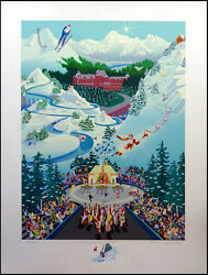 Melanie Taylor Kent Let The Winter Games Beginwith Remarque H.signed Unframed