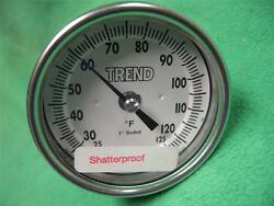 Trend Model 30 3 Thermometer 25-125f Temperature Gauge Refrigeration Cooler 1/2