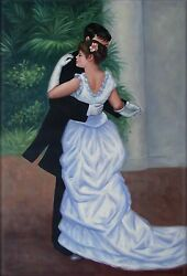 Pierre Renoir Dance In The City Repro Hand Painted Oil Painting 24x36in