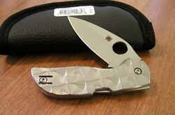 Spyderco New Stepped Titanium Handle Chaparral Plain Cts-xhp Blade Knife/knives