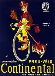 3206.Hobo on Continental Unicycle french POSTER.Home shop Room art decoration $16.00