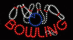 New Bowling Logo 27x15 Oval Solid/animated Led Sign W/custom Options 24574