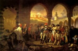 Napoleon In The Pesthouse At Jaffa Emperor Military By Jean Antoine Gros Repro