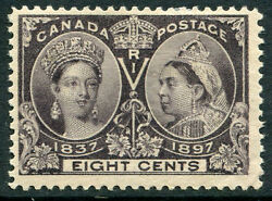 Canada - 56 F-vf Hinged Issue - Queen Victoria 60th Year Reign - S5573