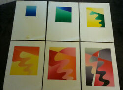 Abstract Untitled Set Of 6 By Thom De Jong 70s 80s Dutch Nyc Artist