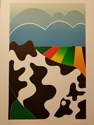 Dutch Landscape I By Thom De Jong 70s 80s Dutch Nyc Artist Cows And Cattle