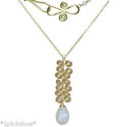 Necker 213 Swirl Cluster Necklace With Stone And Metal Choice