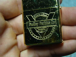 Zippo Lighter Dudley Perkins Sf Ca Harley Gold Plated 1994 Nos Eps17121
