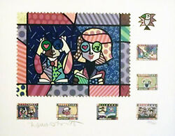 Romero Britto  Educating The World Stamps Print  Ba Make Offer