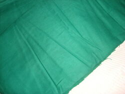 Vintage Flannel Backed Cotton Solid Green 3 1/2 Yd/42 Wide