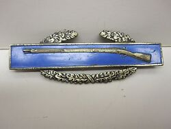 Ww Ii Sterling Silver Combat Infantry Badge And 1 Sterling Silver Clutch