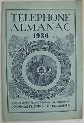 Bell System American Telephone And Telegraph Co Telephone Almanac 1936