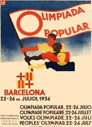 4656.decoration Poster.1936 Barcelona Olympics.spain.home Wall Interior Design