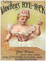 5542.vanbeil's Rye And Rock.the Tonic.woman With Glass.poster.home Office Decor