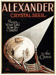 5558.alexander Crystal Seer.looking Into The Future.poster.home Office Decor