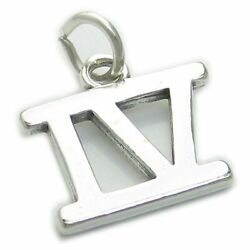Roman Numeral Number 4 Sterling Silver Charm .925 X 1 Iv Numerals Charms