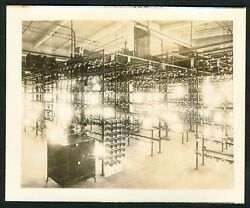 C. 1910 Edison Lamp Works Factory New Jersey, Vintage Photo