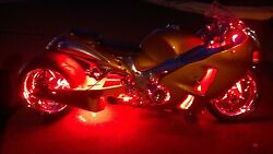 Sport Motorcycle LED Neon Accent Glow Kit 234 Lights 20 Flex Strips wRemote