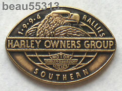 Harley Davidson Owners Group Hog 1994 Southern Rally Vest Hat Tac Pin Pins