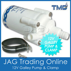 12v Tmc 100 Gph Pump Only And Clamp- Water Pump For Caravan/rv/motorhome/boat Sink