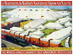 8873.the Barnum And Bailey Greatest Show.poster.art Wall Decor Graphic Art