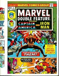 Marvel Double Feature 2 Cover Proof Art Jack Kirby 1973 Iron Man Captain America