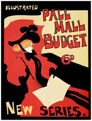 9888.pall Mall Budget.new Series.woman In Red.poster.home Decor Graphic Art
