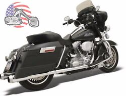 Bassani Chrome Bagger Stepped True Duals Power Curve Mega Exhaust Harley Touring